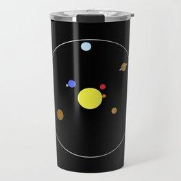 Solar System - Minimalism Abstract Pastel Colours Travel Mug