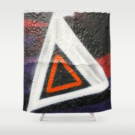 Double Triangle  Shower Curtain