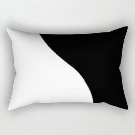 Yin and Yang BW Rectangular Pillow