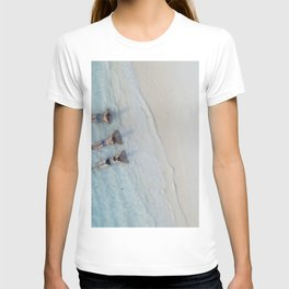 Girl Friends Just Want To Have Fun, Soaking in the Caribbean Waves photograph T-shirt