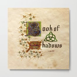 Book Of Shadows Metal Print