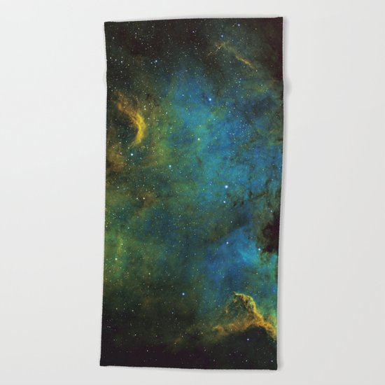 North American and Pelican Nebula Beach Towel
