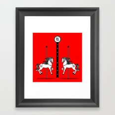 Chinese New Year of the Horse Framed Art Print