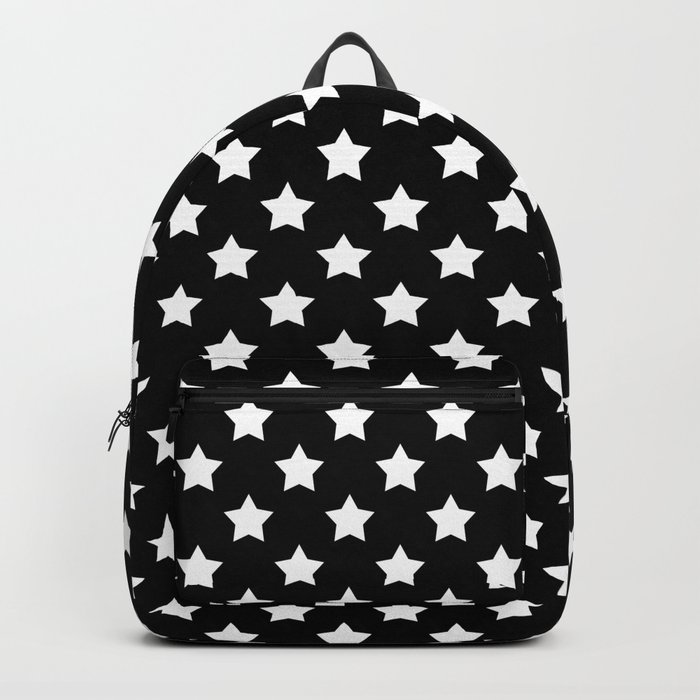 Black and white . Star Backpack