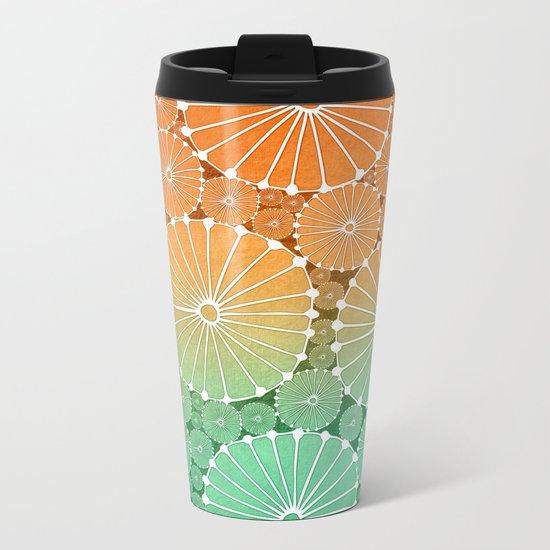 Abstract Floral Circles 7 Metal Travel Mug