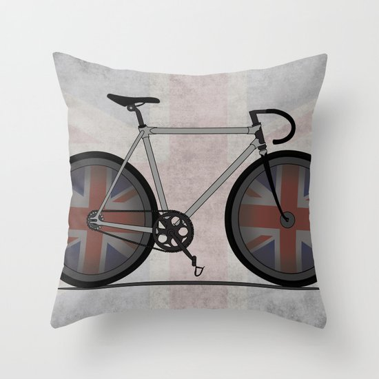 British Cycling is Brilliant Throw Pillow