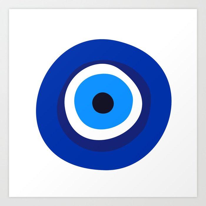 Evil Eye Symbol Art Print By Tony4urban Society6