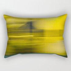 Yellow Lights Speed Effect Rectangular Pillow