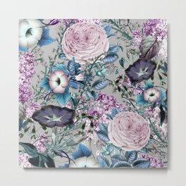 377 5 Lavender Floral Pattern Metal Print