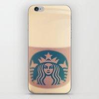 starbucks iPhone & iPod Skins featuring Starbucks Coffee by Accorden2Worden