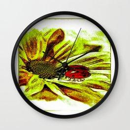 Insect Models: Ladybug Life 01-04 Wall Clock