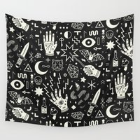 occult Wall Tapestries featuring Witchcraft by LordofMasks