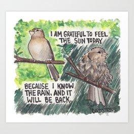 Bird no. 264: I Know the Rain Art Print