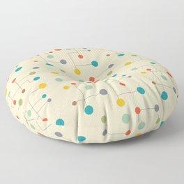 Mid-Century Dots Pattern Floor Pillow