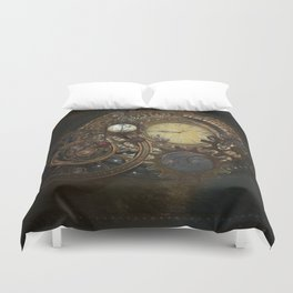 Steampunk Clocks Duvet Cover