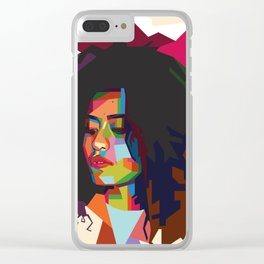 beautiful frizzy girl Clear iPhone Case