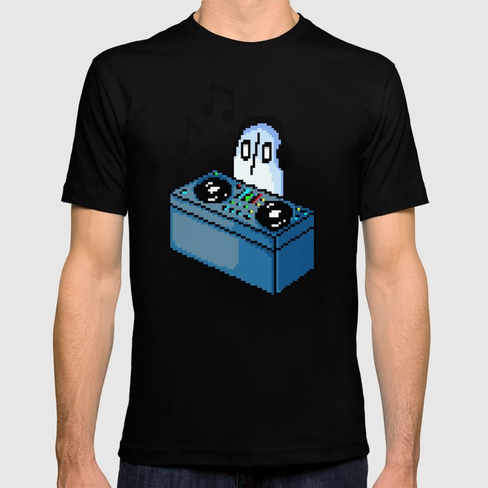 Napstablook DJ Set Undertale Pixel Art T-shirt