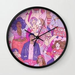 Lesbian Pride Wall Clock