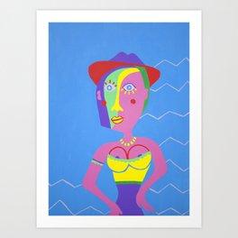 NINA ON HOLIDAY Art Print