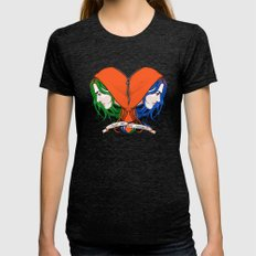 Clementine's Heart MEDIUM Womens Fitted Tee Tri-Black