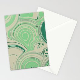 Spiraling Green Stationery Cards