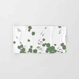 Life in lily pad pond Hand & Bath Towel