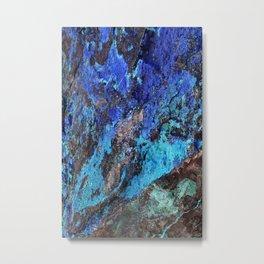 Malachite Mineral Stone rustic decor Metal Print