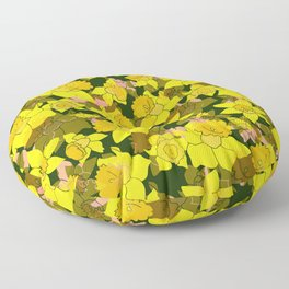 Daffodil Forest Floor Pillow