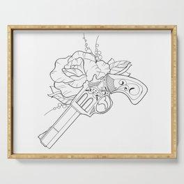 Gun n Rose Serving Tray