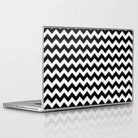 chevron Laptop & iPad Skins featuring Chevron (Black/White) by 10813 Apparel