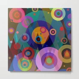 Abstract #507 Triangles & Circles Metal Print