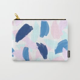 Blue and Pink Paint Carry-All Pouch