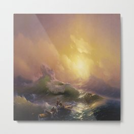 Hovhannes Aivazovsky's The Ninth Wave Metal Print