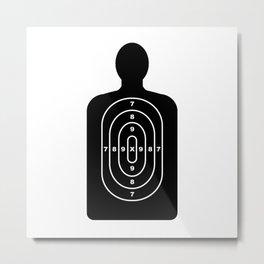 Human Shape Target Metal Print