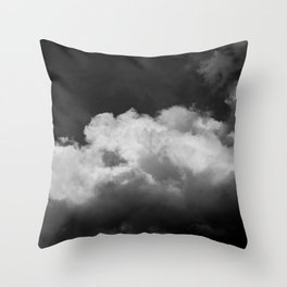 Clouds In Black And White Throw Pillow