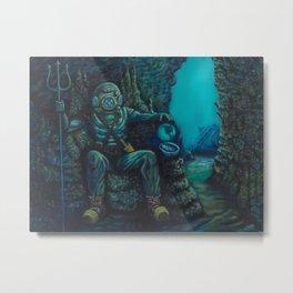 Deep Sea Throne Metal Print
