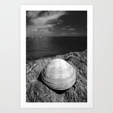 Seascape with shell, isla Taboga, Panama Art Print