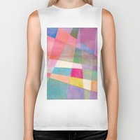 grid Biker Tanks featuring Grid by Dreamy Me