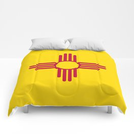 Flag of New Mexico - Authentic High Quality Image Comforters