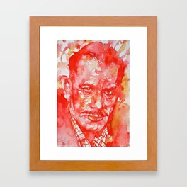 JOHN STEINBECK - watercolor portrait Framed Art Print