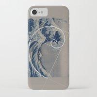 fibonacci iPhone & iPod Cases featuring Hokusai Meets Fibonacci by Vi Sion
