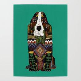 Basset Hound jade Poster