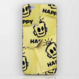 The Happy Sticker iPhone Skin