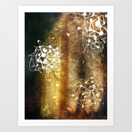 burnt umber Art Print