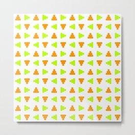 Pyramid 2 - green and orange Metal Print