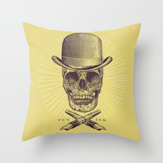 Dead Artist Throw Pillow