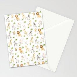 Safari Animals Baby Nursery Kids Stationery Cards