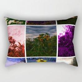 Sunflower Collage Rectangular Pillow