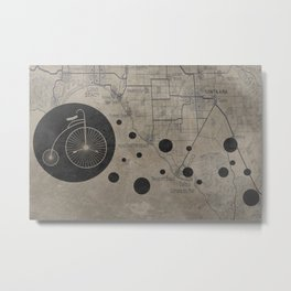 Bike Map Metal Print