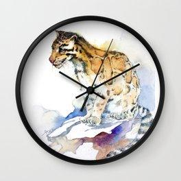 clouded leopard Wall Clock